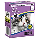 Bozita Cat mit Pute 370g Katzen-Nassfutter Häppchen in Gelee