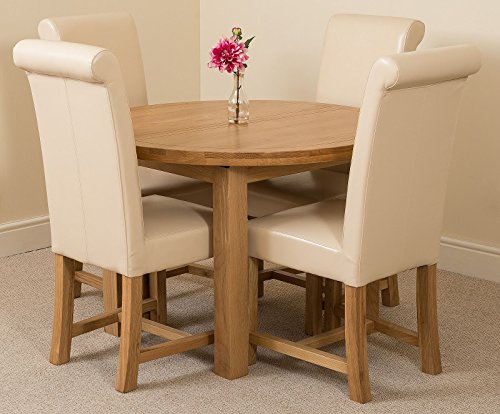 MODERN FURNITURE DIRECT Edmonton Extending Oval Solid for sale  Delivered anywhere in Ireland