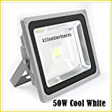 #10: 50W LED Flood Light -Cool White- Indoor & Outdoor USE-DIRECT 100-264 V AC BY A2Z TECH