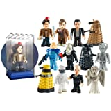 Character Building Doctor Who Micro-Figures in Display Brix