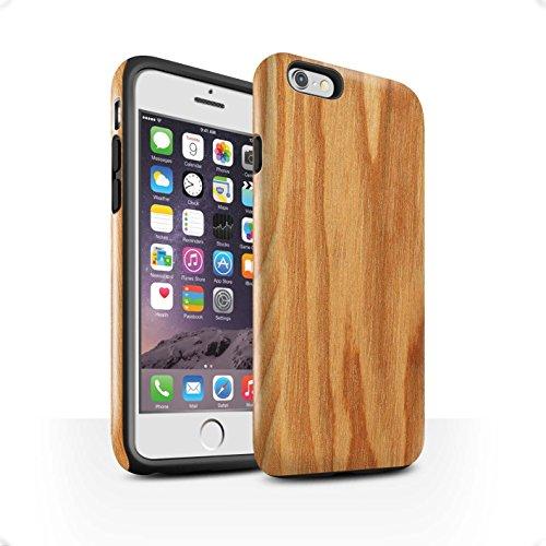 STUFF4 Glanz Harten Stoßfest Hülle / Case für Apple iPhone SE / Treibholz Muster / Holz/Holzmaserung Muster Kollektion Eiche