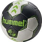 Hummel Court - Pallone da pallamano, Unisex, 202190-2723, Asphalt/Green Lime, 2