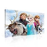 Disney Frozen Eiskönigin Elsa Olaf Leinwand Bilder (PPD2520O1FW) - Wallsticker Warehouse - Size O1 - 100cm x 75cm - 230g/m2 Canvas - 1 Piece