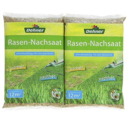Dehner Rasen-Nachsaat, 2 x 300 g (600 g), für ca. 24 qm