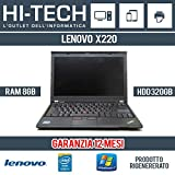 Lenovo Thinkpad X220 Notebook, Processore Intel Core i5, 2.50 GHz