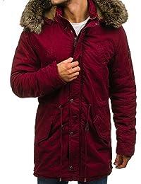 BOLF – Veste d'hiver – Parka – fermeture éclair – avec capuche – Fourrure – Blouson – Homme 4D4