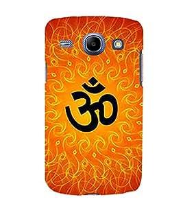 Fabcase om karam mantra meditation fire theme hindu religion god Designer Back Case Cover for Samsung Galaxy Core I8260 :: Samsung Galaxy Core Duos I8262