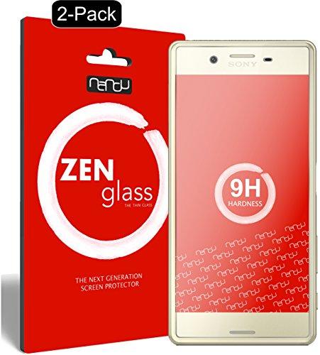 nandu I ZenGlass [2 Stück] Flexible Glas-Folie für Sony Xperia X Panzerfolie I Display-Schutzfolie 9H I (Kleiner Als Das Gewölbte Display)