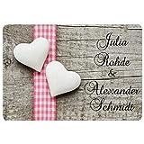 Personalisierte Fußmatte Romantik - Fußmatten mit Namen Bedrucken - Romantisches Pärchen Geschenk mit Personalisierung