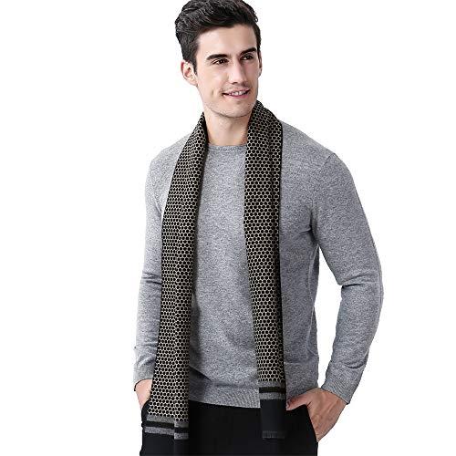 Wrap-Schals für Herren Herren Herbst und Winter Business Honeycomb Farbe warme Schal gestrickte weiche thermische Schal Bekleidungszubehör ()