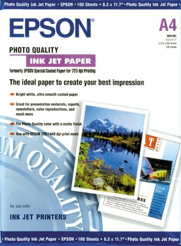 Epson Quality Inkjet Photo Papier Nr. S041061 (A4 / 100 Blatt)