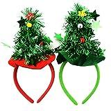 XONOR 2 Piezas de arbol de Navidad Diademas Fiesta de Disfraces Fiesta de fantasía Novedad Accesorio