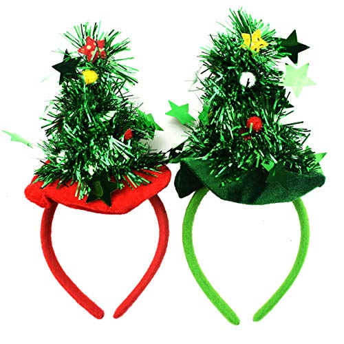 Zwei Kostüm Stück - XONOR 2 Stück Weihnachtsbaum Stirnbänder Weihnachten Headwear Party Kostüm Neuheit Zubehör