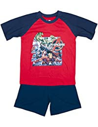 Boys Marvel Avengers Hulk Ironman Captain America Shorty Pyjamas sizes from 3 to 10 Years
