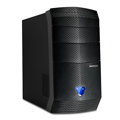 Medion Akoya P3402 D - Ordenador de sobremesa (AMD Ryzen 5 1400, 8 GB de RAM, HDD de 1 TB, AMD Radeon RX 460 de 2.048 MB, Windows 10 Home), color negro