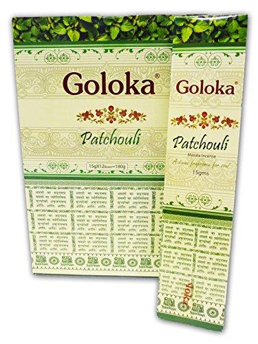 Goloka Original Indische Räucherstäbchen Patchouli 180 Gramm 12X15 Gramm -