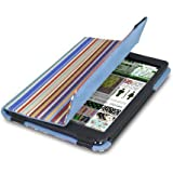 Ladies Men's & Childrens iPad Mini 1, 2 & 3 cover cases with auto on off and integrated stand offering full protection in floral, stripes & abstract designs (Siena Stripes)