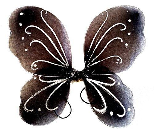 Inception Pro Infinite 3 - 7 Jahre - Kostümzubehör - Verkleidung - Karneval - Halloween - Theater - Schmetterlingsflügel - Fee - Schwarz - Mädchen