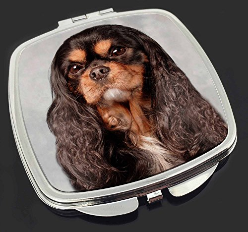 Black and Tan King Charles Spaniel Make-up Taschenspiegel Weihnachtsgeschenk - Tan King