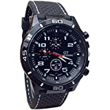 Cool Men's Racer Military Pilot Aviator Army Silicone Sports Watch