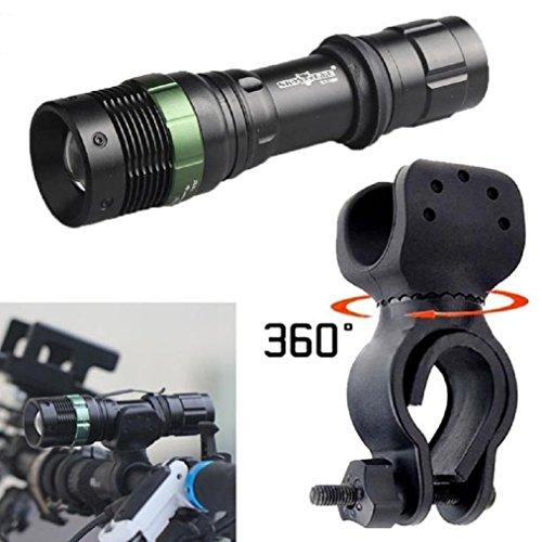 Preisvergleich Produktbild 5000 Lumens CREE XML T6 LED Skywolfeye Taschenlampe, Kangrunmy Zoomable Super hell Zoomable Lampe Fahrrad 360 ° Mount Clip