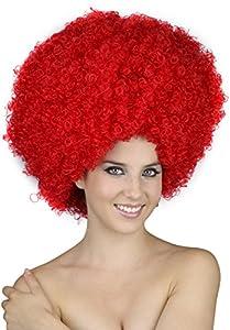 Reír Y Confeti - Fiedis054 - Accesorio Disfraz - Peluca - Afro - XL - Rojo