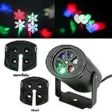 LED Projektionslampe 4 Interchangeable Projektor Lichteffekte Rotating RGBW 4 W LED Beamer Lampe für Urlaub Party, Weihnachtsbeleuchtung, Halloween, Urlaub, Nachtlicht Dekor