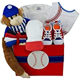 Best Art of Appreciation Gift Baskets Gifts For Baby Boys - American All Star New Baby Boy Gift Basket Review