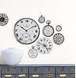 Unbekannt Wandtattoo Historische Wanduhren von Nouvelle Images, 2 Bögen mit Uhr- Wandaufklebern, Maße Bögen a 49 x 69 cm, klebt auf Allen Glatten Flächen, Sticker rückstandslos ablösbar