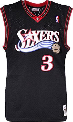 Mitchell & Ness Allen Iverson #3 Philadelphia 76ers 2000-01 Swingman NBA Trikot Schwarz, L -