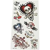 La vogue Set of Tattoos Tatuajes Temporales 18*8cm Cráneo