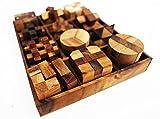 12-in-One clásico de madera educativo 3d modelo Puzzle juguete Puzzle Mini Magic de Rubik Cube 3d serpiente Twist cerebro Teaser cerebro para adultos niños fiesta viaje niño