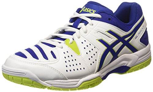 Asics Gel-Dedicate 4, Chaussures de Tennis homme, Blanc (white/asics Blue/lime 0143), 44.5