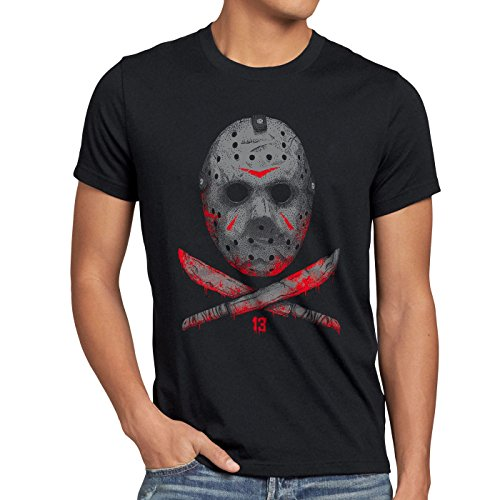 Billig Michael Maske Myers (A.N.T. Freitag 13 Herren T-Shirt halloween jason voorhees horror,)