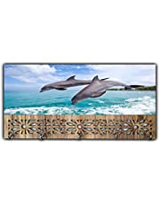 Xpression Décor Key Holder Rack with Photo of Dolphin 15433
