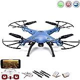 x5hw Explorers 2WiFi FPV Pro de Edition 4.5de canal cuadricóptero teledirigido 3d dron con WiFi FPV cámara Live de transferencia, altura Barómetro, headless, de 6Axis Gyro, Mega Juego de Incluye Crash Kit de