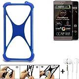 K-S-Trade Bumper für Allview P9 Energy Lite (2017) Schutzhülle Handyhülle Silikon Schutz Hülle Cover Case Silikoncase Silikonbumper TPU Softcase Smartphone, Blau (1x), Headphones