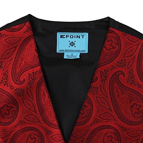EGC2B.02 Elegante Paisley Microfiber Schwarz-R¨¹ckseite Mens Tuxedo Weste Von Epoint EGC2B04B-Rot