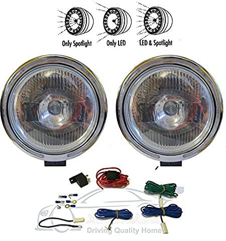 XtremeAuto® WHITE LIGHT LENS With Wiring Kit TWIN 9