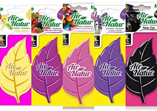 LD 5 Air Natur Lufterfrischer Klassik Mix Bubble Gum, Lavendel,New Car, Vanilla, Waldbeere