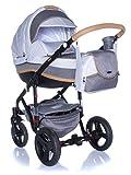 Kombi Kinderwagen Travel System Adamex Vicco R12 HASELNUSS-BRAUN 3in1 Buggy Sportwagen Babyschale Autositz Kite 0-13kg