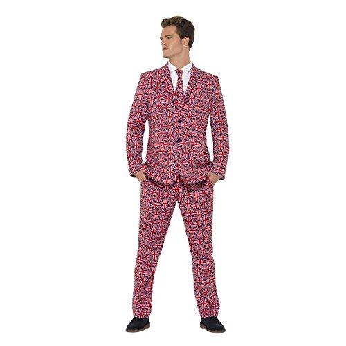 ion Jack Stand Out Suit Fancy Kleid Funny Kostüm Junggesellen Party Outfit (M, L, XL) (Union Anzüge Für Erwachsene)