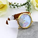 Reloj vintage retro con cuarzo analógico diseño globo terraqueo mundo vaarios modelos mws (Blanco)