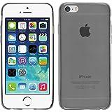 PhoneNatic Case für Apple iPhone 6s / 6 Hülle Silikon grau Slimcase Cover iPhone 6s / 6 Tasche + 2 Schutzfolien