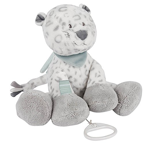 Nattou Spieluhr, Mädchen und Jungen, 28 cm, grau - Lea die Schneeleopardin