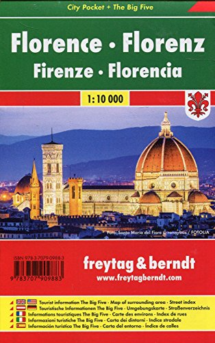 Florenz, Stadtplan 1:10.000, City Pocket + The Big Five: Stadskaart 1:10 000 (freytag & berndt Stadtpläne)