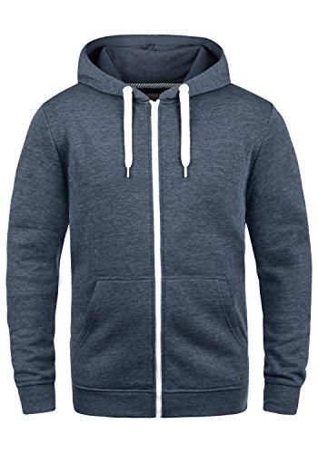 !Solid Olli Ziphood Herren Sweatjacke Kapuzenjacke Hoodie mit Kapuze Reißverschluss und Fleece-Innenseite, Größe:S, Farbe:Insignia Blue Melange (8991)
