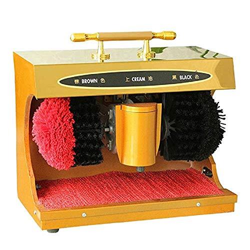 Fayelong Machine à Cirer les Chaussures Automatique, Machine à Cirer les Chaussures Electriques et Briller Avec 2 Brosses (or)