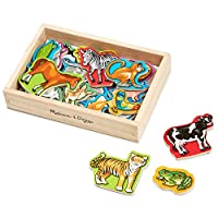 Melissa & Doug 20 Wooden Magnets 1 EA 475