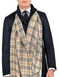 9a51430cfdc0 Remo Sartori – élégante écharpe homme Dess fantaisie écossais beige, ...